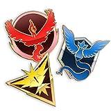 Team Mystic Valor Instinct Pins Set for Backpacks Leadership Lapels - Set of 3