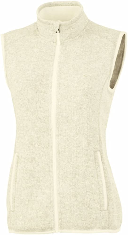 Charles River Apparel Women's Pacific Heathered Sweater Fleece V