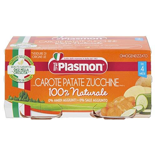 Plasmon Omogeneizzato di Carote, Patate e Zucchine, 2 x 80 g