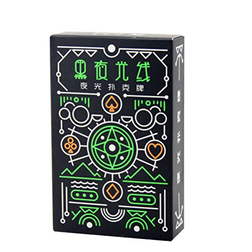 LIOOBO Naipes Negros Luminosos Suministros de Fiesta de Póker Normales Juguetes para El Hogar Entretenidos Bar Juego de Mesa Familiar (Color de Caja Aleatorio)