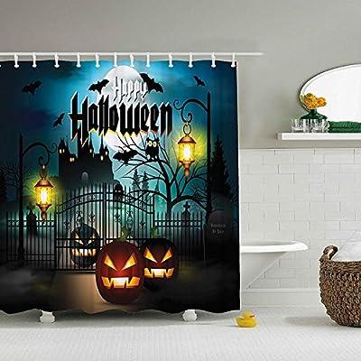 Spooky Halloween Shower Curtain