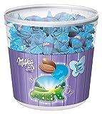 Milka Feine Eier Alpenmilch – Neues Design – Zartschmelzende Schokoladeneier mit einer Alpenmilch Füllung in der praktischen Vorratsdose – 900g