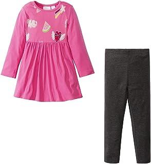 Yilaku Little Girls Horn Sleeve Shirts + Denim Pants Jeans 2pcs Clothes Sets