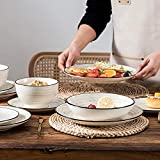 Vancasso Tafelservice Steingut, BONBON 24 teiliges Geschirrset, handbemaltes Kombiservice für 6 Personen, Vintage Aussehen - 7