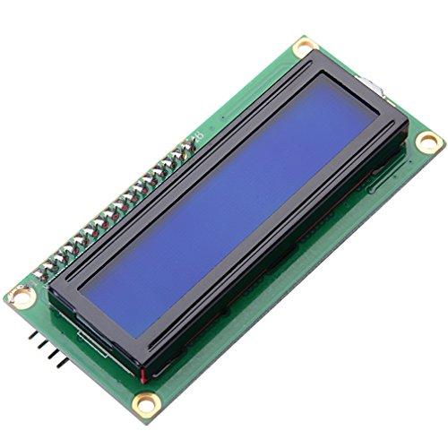 MUZOCT IIC/I2C/TWI 1602 LCD Módulo de Retroiluminación de 2x16 Serie Azul para Arduino UNO R3 MEGA2560
