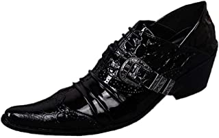 Rui Landed Oxford for Men Brogue Shoes Lace Up Style Genuine Leather Luxury Monk Strap Delicate Textur Wingtip