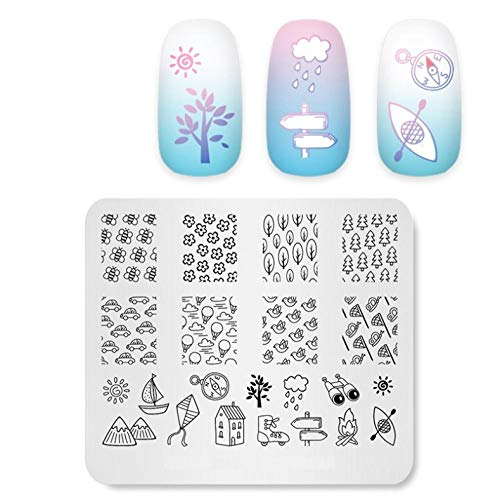 Nail Stamp Plate Immaturity Funny Stuff Image Template Manucure Nail Stencil Tool Template Stencils for Nails