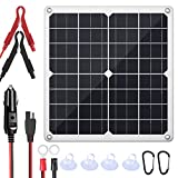 SUNAPEX 20W 12V Portable Solar Battery Charger & Maintainer - Solar Panel -Built-in Intelligent Charge Controller-Solar Powered...