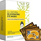 Under Eye Patches & Masks (18 Pairs) - All Natural Anti Aging Treatment for Bags, Puffiness, Wrinkles, & Dark Circles - 24K Gold, Collagen, Hyaluronic Acid, Hydrogel - Formulated in San Francisco