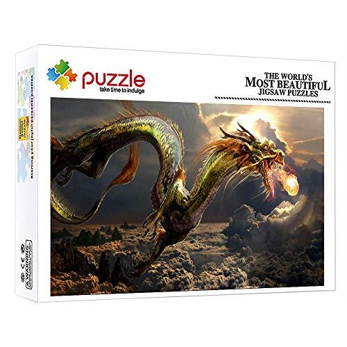 1000 Teile Legespiel Erwachsenenpuzzle Puzzle Mit Edler Motiv Drachentier Familienspiel Teambuilding Geschenk 1000 Teile In Hochwertiger Für Hobbys Entwickeln (30 X 20 Zoll)