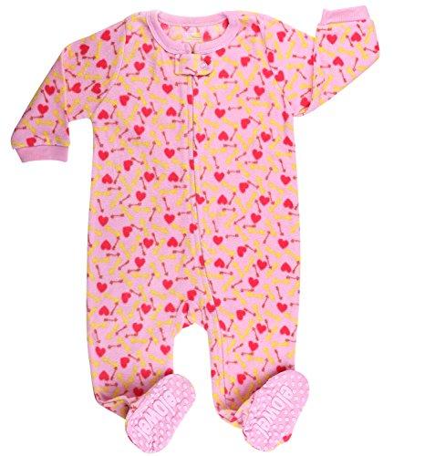 elowel   Schlafanzug   Mädchen Pyjama   Babys, Kinder   1-Teilig   Flauschig   Strampler   100% Polyester   Warm, Angehnem   Größe: 5 Jahre (110)   Design: Hundefutter   Farbe: Rosa