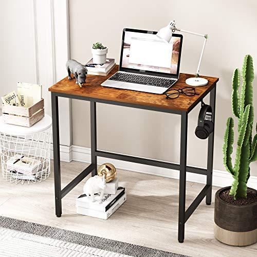 JOISCOPE Mesa de Ordenador, Escritorio, Mesa de Madera, Mesa Industrial Que Ahorra Espacio, Adecuada para la Oficina en casa,75 x 50 x 75 cm(Finition chêne Vintage)
