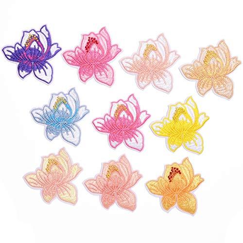 Parches para Ropa Moda Lily Flor Ropa Bolsa Sombrero Paño de decoración (10pcs) 8.3 * 8.2cm
