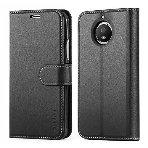 Mulbess Funda Motorola Moto G5s [Libro Caso Cubierta] [Business de Billetera Cuero] con Tapa Magnética Carcasa para Motorola Moto G5s Case, Negro