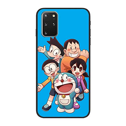 Vkspace Ultra Thin Black Soft Matte Liquid Fundas Anti-Slip Case Cover Coque for Samsung Galaxy S20 Plus-Doraemon-Robotic Cat Nobita 7
