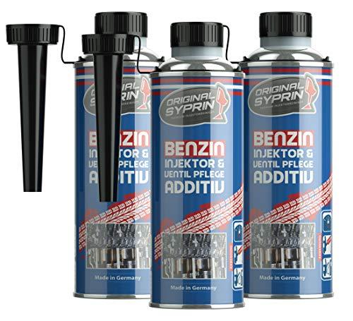 SYPRIN Original Benzin Additiv Benzinsystem-Additiv Injektor Ventilpflege Benzinzusatz Kraftstoff-Additiv Additive Kraftstoff-Zusatz 3er Set