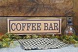 Monsety Kaffee-Bar, rustikaler Vintage-Look All Word Changes Free Let Us Add A Name To Give Add Touch Holzschild Basteln für Wohnzimmer Deko