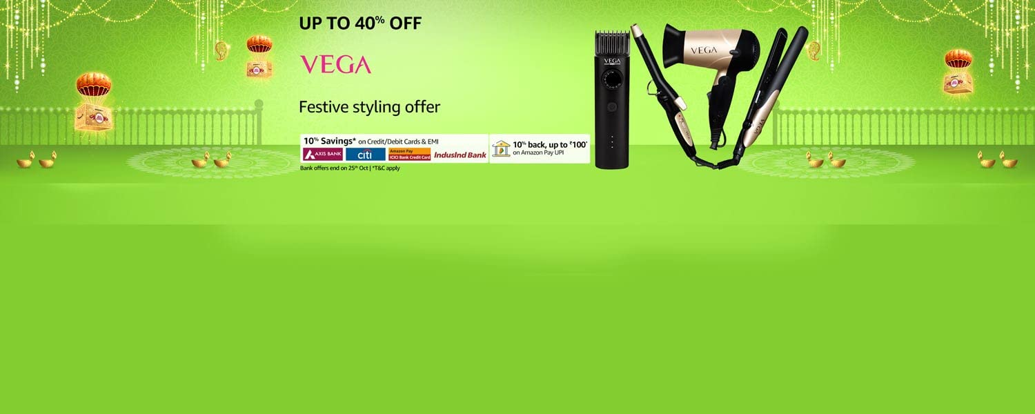 amazon.in - Up To 40% Off on Vega Personal Care Appliances