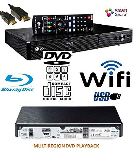 LG BP350 Smart Share Blu-Ray (EU REGION)/DVD (MULTIREGION) reproductor de CD, WiFi habilitado, multihabitación, remoto/compacto/negro con HDMILEAD: Amazon.es: Electrónica