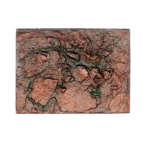 Igemy 3D Schaum Felsen Reptil Stein Aquarium Hintergrund Kulisse Fisch Tank Board Dekor 1 PCS (F)
