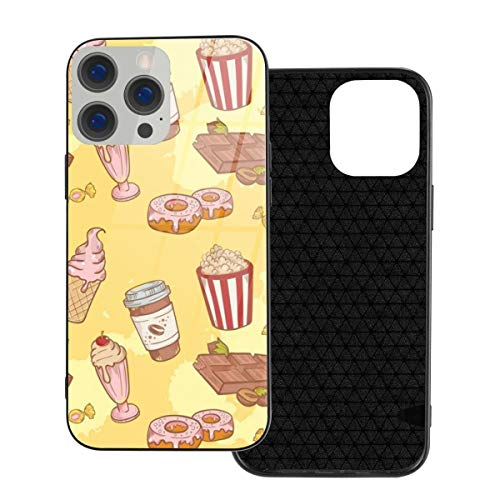 RTBB - Custodia in vetro per iPhone 12, 3D, Delicious Fastfood Dolci, flessibile, morbida, protezione posteriore in TPU temperato, antiurto, per iPhone 12/12 Pro/12 Mini/12 Pro Max