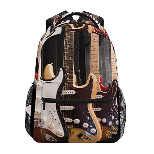 Ahomy Mochila para guitarra eléctrica, mochila escolar, ideal para viajes, día y...