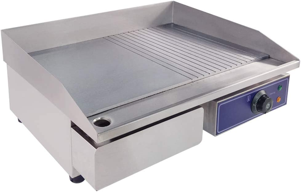 DULONG Commercial Electric Dedication Griddle Flat Stai Grill Plate Hot Max 82% OFF Top