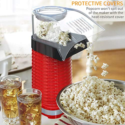 Product Image 6: Fast Hot Air Popcorn Popper With Top Cover,Electric Popcorn Maker Machine,Healthy & Delicious Snack For Family Gathering,Easy To Clean,ETL Certified,Safe