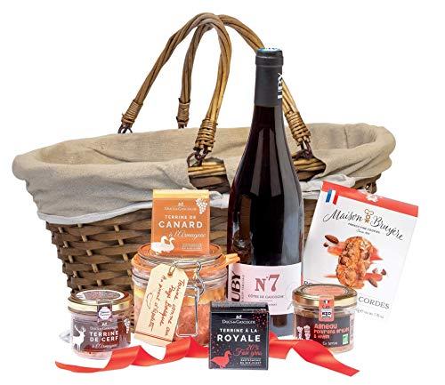 """Ducs de Gascogne - Coffret """"Échappée Gourmande"""" - comprend 7 produits dont un vin rouge - spécial cadeau (946444)"""