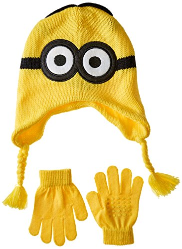 Despicable Me Boys' Little Reversible Laplander and Glove Set, Multi, One Size