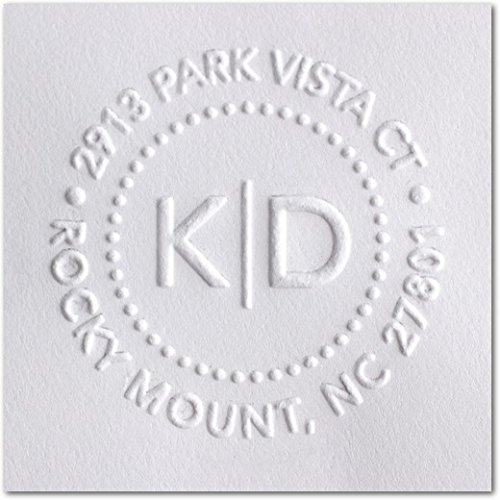 Shiny Custom Embosser - Personalize with Initials & Text - Hand-Held Embossing Stamp - Monogram, Seal Embosser Best for Books, Envelopes, Napkins