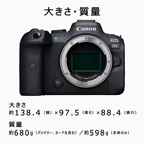 Canonミラーレス一眼カメラEOSR6RF24-105ISSTMレンズキットブラック