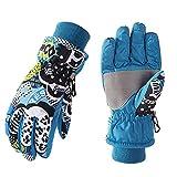 Briskorry 3-11 Jahren Warme Kinderhandschuhe, wasserdicht, warme Fäustlinge für Jungen und Mädchen, Outdoor Reithandschuhe, Skihandschuhe Fahrradhandschuhe Skifahren Reiten Wandern Gloves