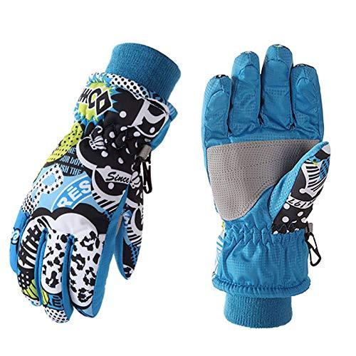 XIAOTUZ Winterhandschuhe für Kinder Handschuhe Warme Skihandschuhe wasserdichte und Winddichte Verdickt Winterzeit Handschuhe Geeignet für Jungen und Mädchen im Outdoor Sport