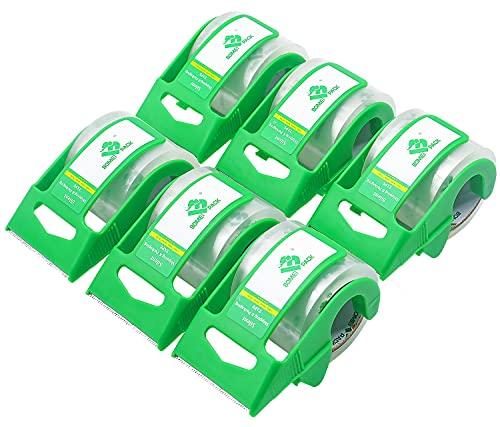 BOMEI PACK ガムテープ 透明 テープカッター ミニ 使いやすい ?包用 幅48mm、長さ20m、6卷 パック
