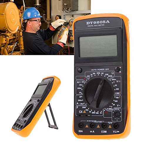 DT-9205A Digitales Multimeter, LCD-Display, Voltmeter, Amperemeter, Volt, Ampere, Ohm, professionelles Handmessgerät, digitales LCD-Multimeter