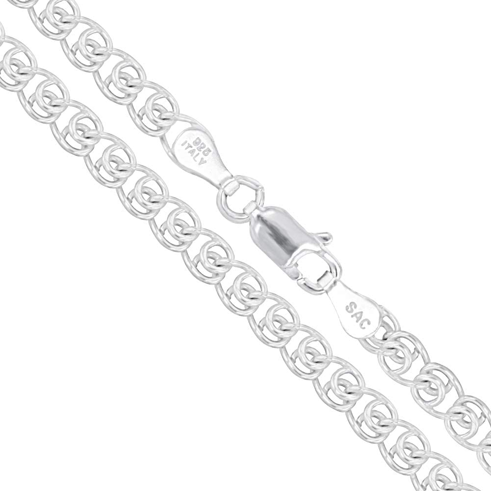 Sterling Silver Italian 驚きの値段で 年中無休 Love Heart Infinit 925 Chain Italy Solid