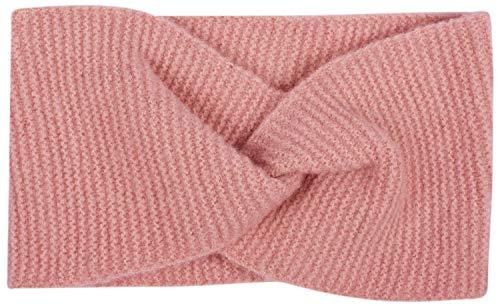 styleBREAKER Damen Feinstrick Stirnband mit Twist Knoten, warmes Winter Haarband, Headband 04026047, Farbe:Altrose