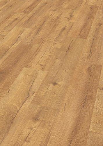 EGGER Home Laminat hell braun Holzoptik - Dunino Eiche natur  EHL046 (8mm, 2,541 m²) Klick Laminatboden | breite Diele