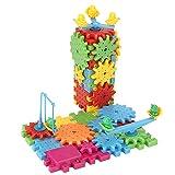 Juego de rompecabezas para niños, 81 piezas/juego de bloques de construcción de engranajes de plástico educativo eléctrico rompecabezas Juguetes divertidos para niño
