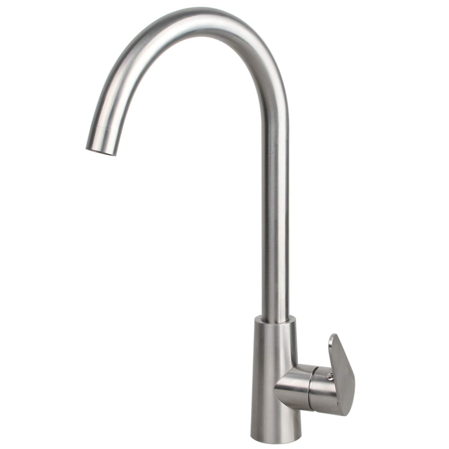 Kitchen Sink Mixer Tap Stainless Steel Brushed Nickel Single Lever 360 Degree Swivel Spout With Hoses And Fittings Buy Online In India At Desertcart