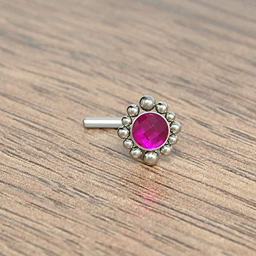 Nose Piercing Jewelry Surgical Steel - Nose Stud - Nose Earring - Nose Ring Stud - L Shaped Nose Ring Ruby - Bone Stud Nose Ring