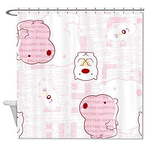 rioengnakg Schimmelresistent Stoff Figuren Duschvorhang Polyester Duschvorhang wasserdicht, Polyester, #1, 72