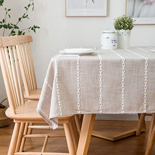 Haoxp Multifunctionele Indoor en Outdoor Tafelkleden Binnenplaats, Café, Party Home Decor voor Keuken Thuis tafelkleed cafe woonkamer tafelkleed bruin_135*180