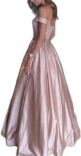 Women Elegant Off Shoulder High Waist Maxi Long Evening Prom Dress