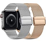 Best Apple Watch Bands 38mm - Pack 2 Metal Strap Compatible with Apple Watch Review