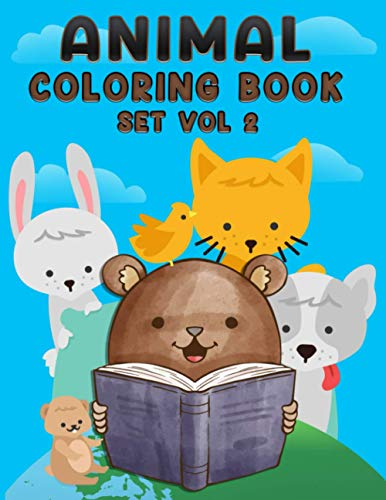 Animal Coloring Book Set Vol 2: Baby Animal Creative Coloring Book Vol 2 For Boys And Girls With Page Size 8.5 X 11 Single Sided