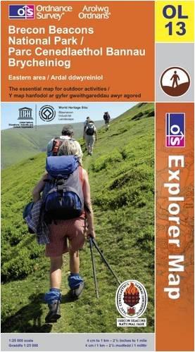 OS Explorer map OL13 : Brecon Beacons National Park / Parc Cenedlaethol Bannau Brycheiniog