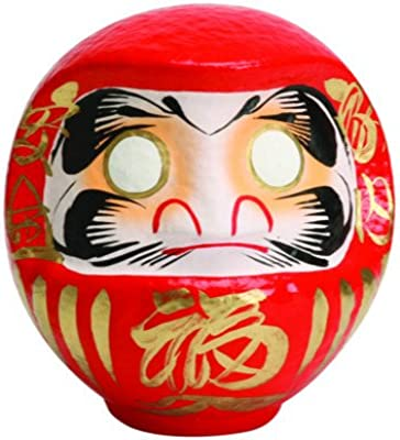 Daruma Traditional Japanese Doll for Good Luck and Business Success 11cm Red