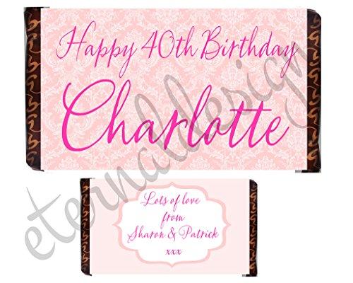 eterna personalizzato compleanno cioccolato Bar Wrapper bdcb 19